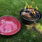 portable round barbecue